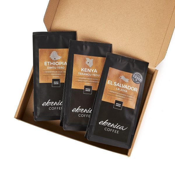 samples of Ebenica fruity coffees